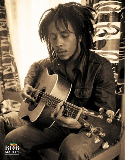 Plakát Bob Marley - sitting