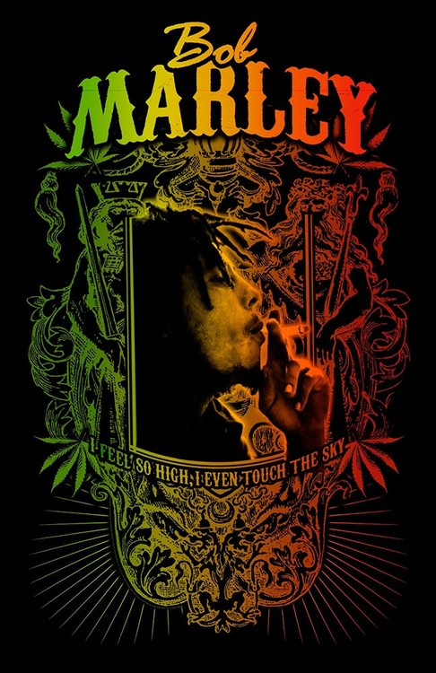 Textilní plakát Bob Marley - Touch The Sky