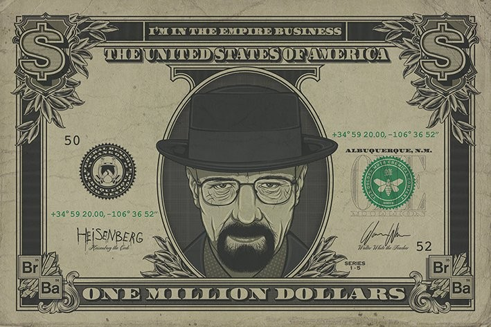 Plakát Breaking Bad (Perníkový táta) - Heisenberg Dollar