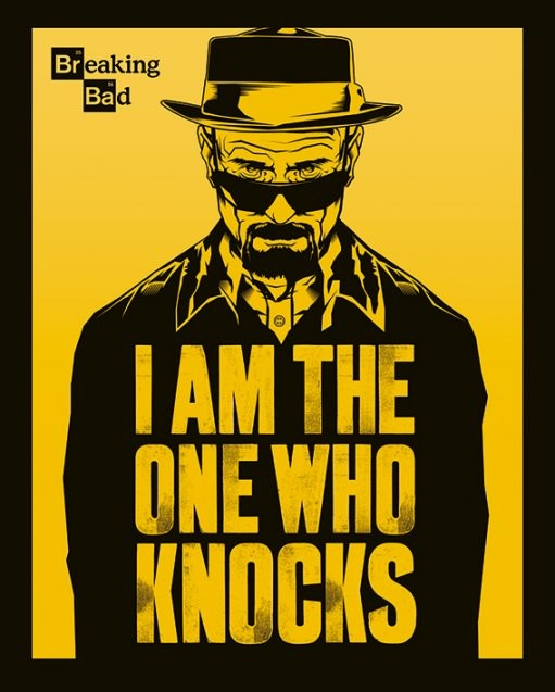 Plakát Breaking Bad (Perníkový táta) - I Am The One Who Knocks