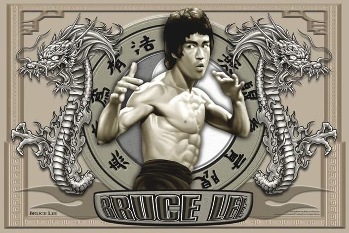 Plakát Bruce Lee - circles