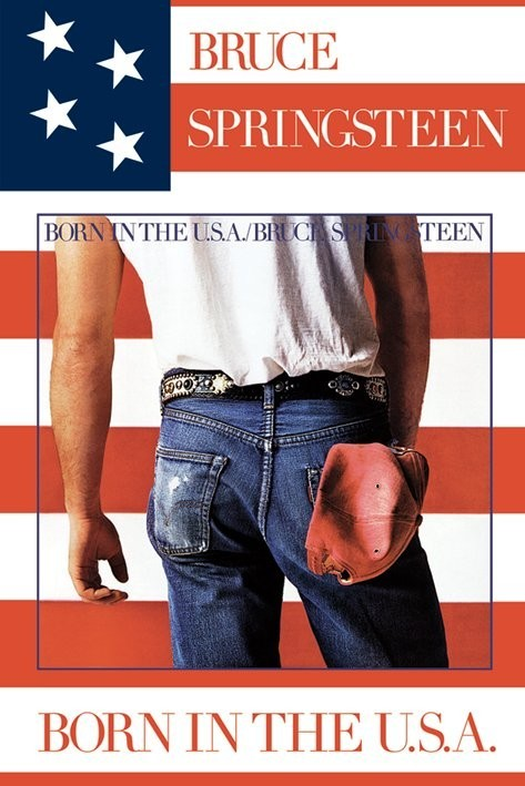 Plakát Bruce Springsteen - born in USA