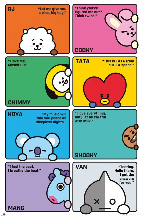 Plakat  BT21 - Compilation
