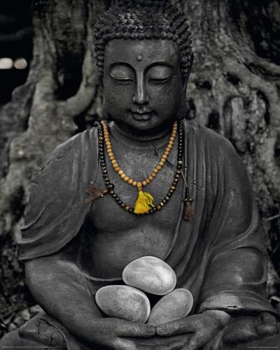 BUDDHA - stone plakát, obraz