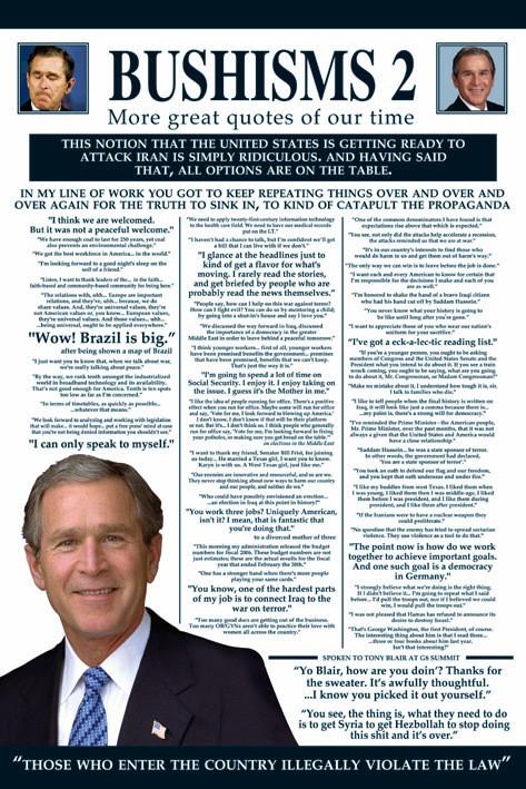 Plakát Bushism 2