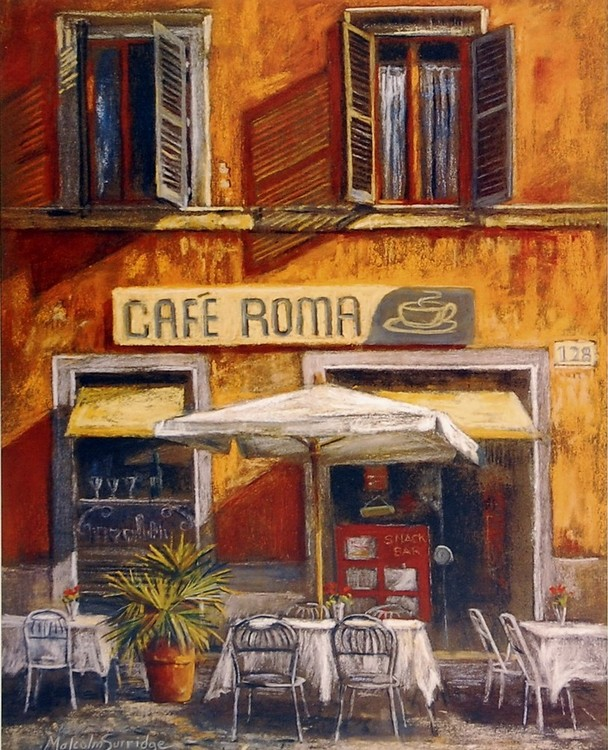 Reprodukcja Café Roma