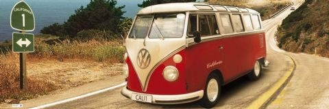 Plakat Californian Camper - Route one