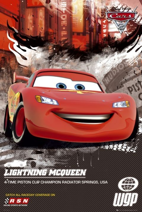 Plakat CARS 2 - lightning