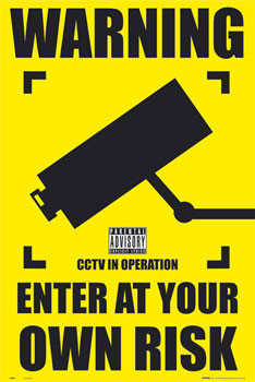 Plakat CCTV - warning