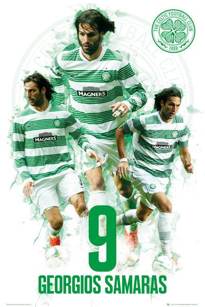 Plakát Celtic - Georgios Samaras