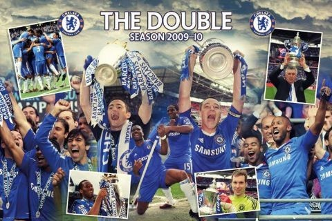 Plakát Chelsea - double winners