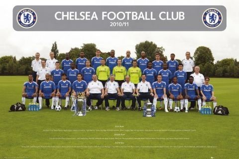 Plakát Chelsea - Team photo 2010/2011