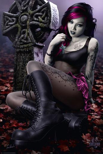 Plakat Cleo - gothic