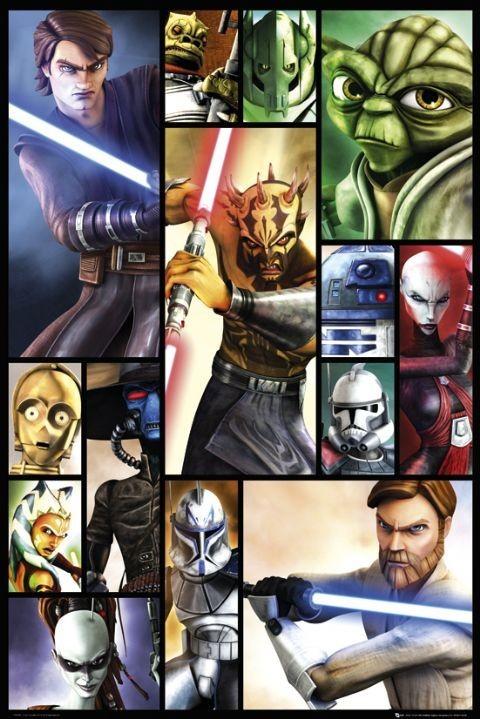 Plakat CLONE WARS - compilation 2