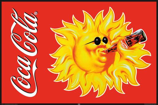 Plakat Coca Cola - sun