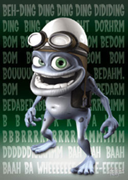 Plakat Crazy Frog - Green