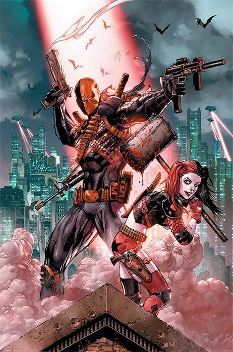 Plakat Dc Comics - Deathstroke & Harley Quinn