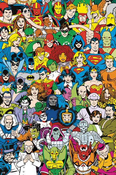 Plakát DC Comics - Retro Cast