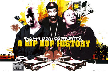 Plakat Death Row - Hip Hop history