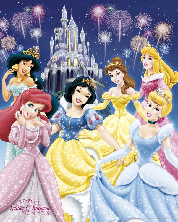 Plakát DISNEY PRINCEZNY - glamour