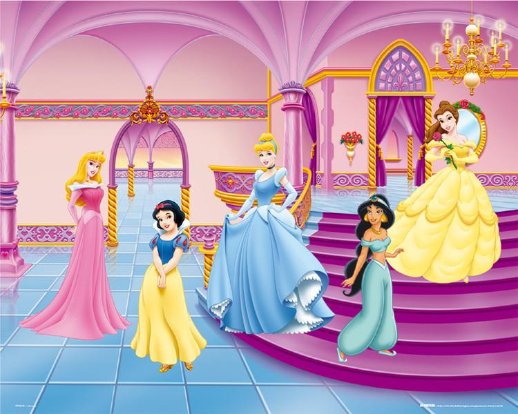 Plakát DISNEY PRINCEZNY - palace
