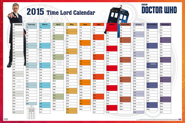 Plakát  Doctor Who - 2015 Time Lord Calender