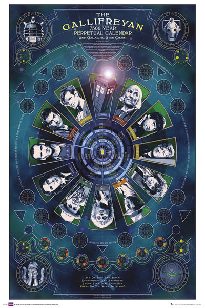Plakát DOCTOR WHO - gallifreyan calendar