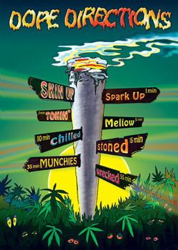 Plakát Dope direction - značky