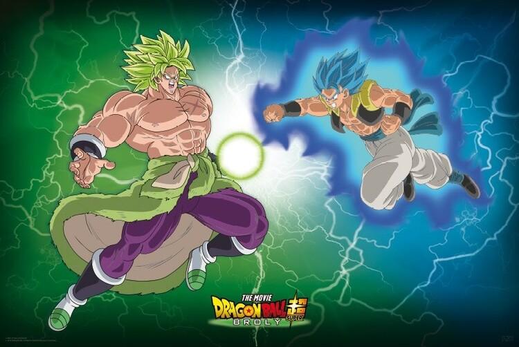 Plakát Dragon Ball - Broly VS Gogeta