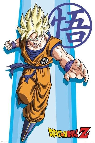 Plakat Obraz Dragon Ball Z Ss Goku Kup Na Posterspl