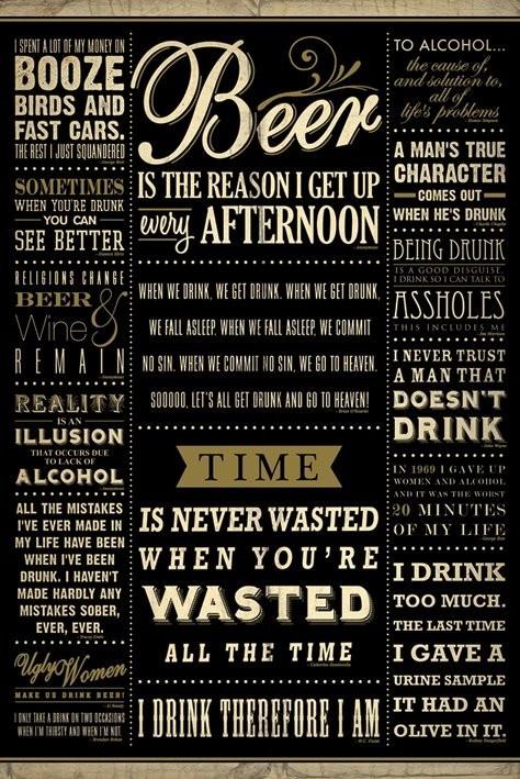 Plakát  Drinkig quotes