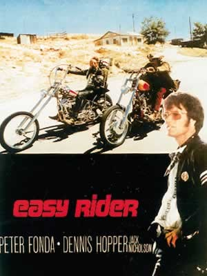Plakát EASY RIDER - riding motorbikes / colour