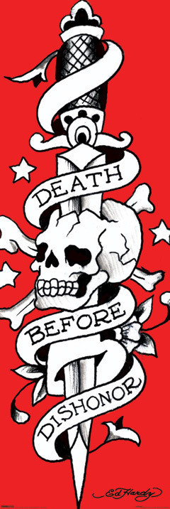 Plakat Ed Hardy - death before dishonor