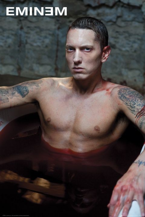 Plakát Eminem - bath