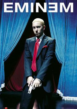 Plakát Eminem - gun