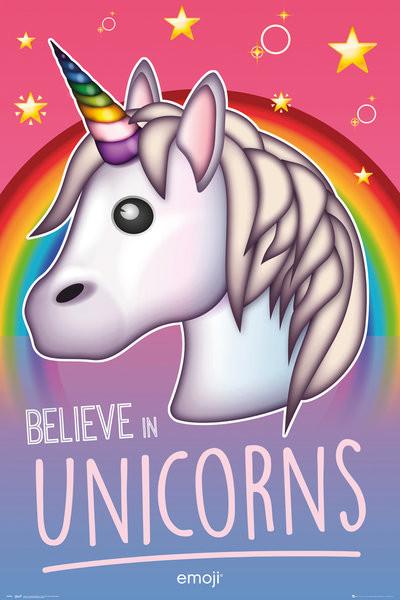 Plakát  Emoji - Believe in Unicorns