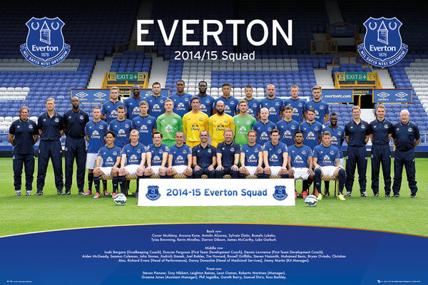 Plakát  Everton FC - Team Photo 14/15