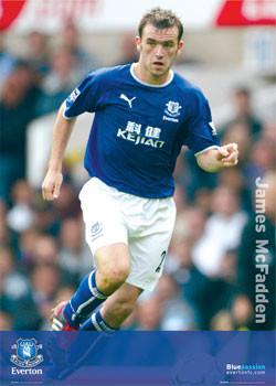 Plakat Everton - McFadden solo