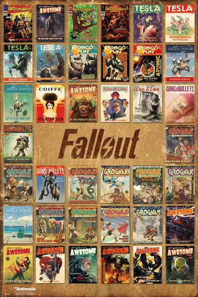 Plakát Fallout 4 - Magazine Compilation