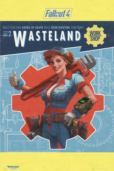 Plakát Fallout 4 - Wasteland