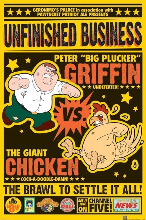 Plakat FAMILY GUY - chicken fight