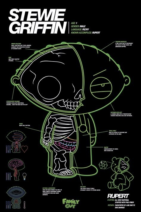 Plakat FAMILY GUY - stewie x-ray