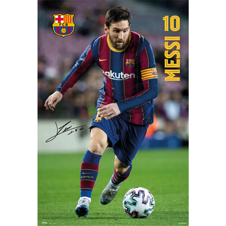 Plakat FC Barcelona - Messi 2020/2021