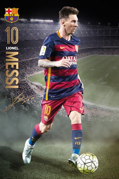 Plakát FC Barcelona - Messi Action 15/16
