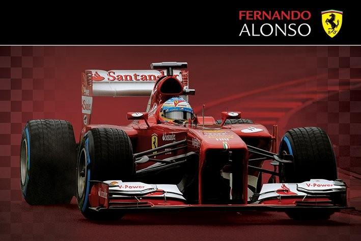 Plakát Ferrari - alonso