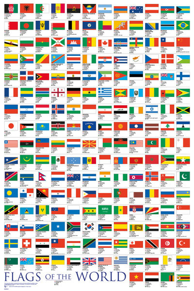 Plakát  Flags - Of The World 2017