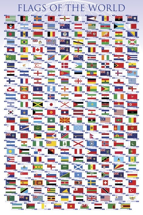 Plakát Flags of the world