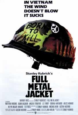 Plakat FULL METAL JACKET / PELNY MAGAZYNEK - helmet