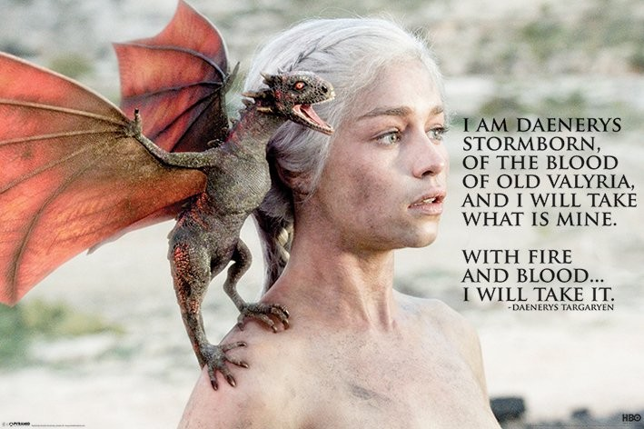 Plakat GAME OF THRONES - daenerys