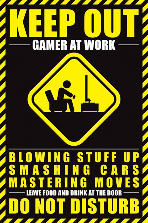 Plakát Gamer At Work